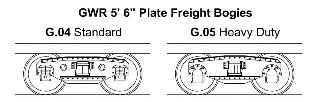 Freight Bogies Sideframes - Diagram 2 GWR only